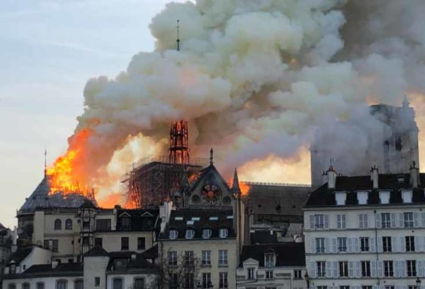 Named the causes of the fire in Notre Dame
